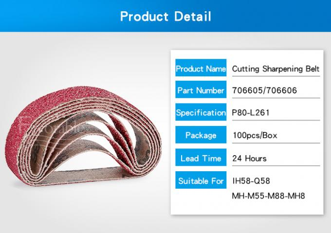 706605 Red Sharpening Belt P80 For Lectra Vector MX MH M88 IH QH MP Q80