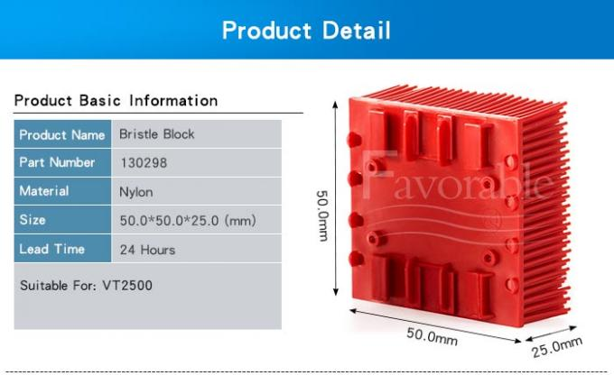 130298 703493 Red Nylon Bristle Blocks Suitable For Vector 2500 Cutting Machine