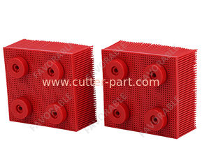 China Red Nylon Bristles Round Foot  Suitable For VT5000  VT7000 Auto Cutter supplier