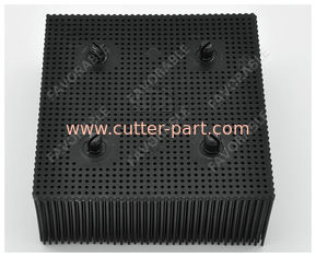 China Black Rectangular PP Nylon Bristles With Round Foot Suitable For Bullmer Cutter Machine supplier