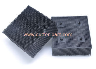 "China Pn0605 Topcut Bullmer Cutter Parts 1.6"" Black Nylon Bristle Block Round Foot supplier"