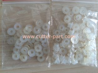 China Yin Auto Cutting Machine Parts , Cutter Accessories White Middle Wheel Rubber Gasket supplier