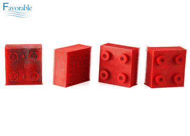 China 130297 Propack Thin Nylon Bristle Vector 5000 Red Round Foot Block factory