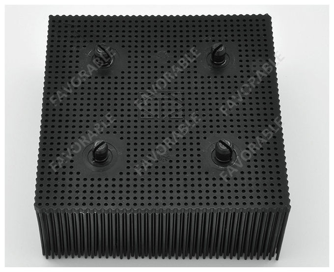 Black Rectangular PP Nylon Bristles With Round Foot Suitable For Bullmer Cutter Machine