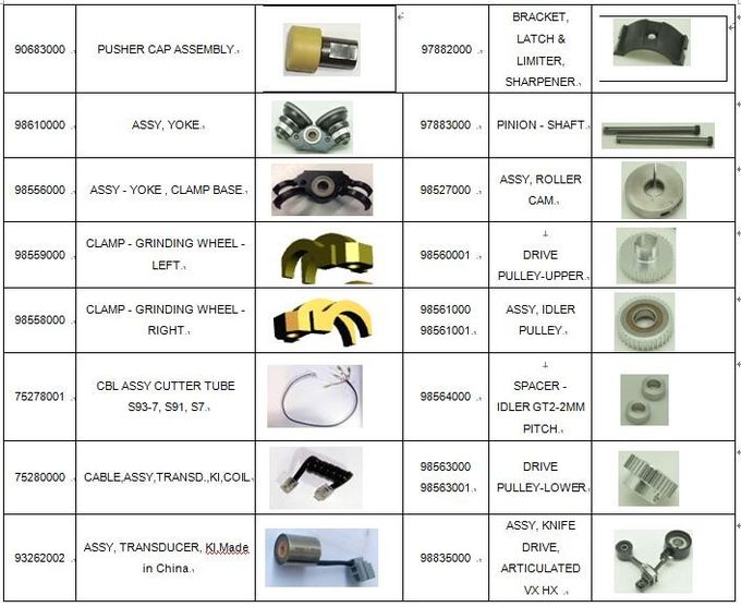 Grinding Wheel Spindle Assy Cutting Machine Parts , Auto Cutter Kits Paragon HX HV 98554001