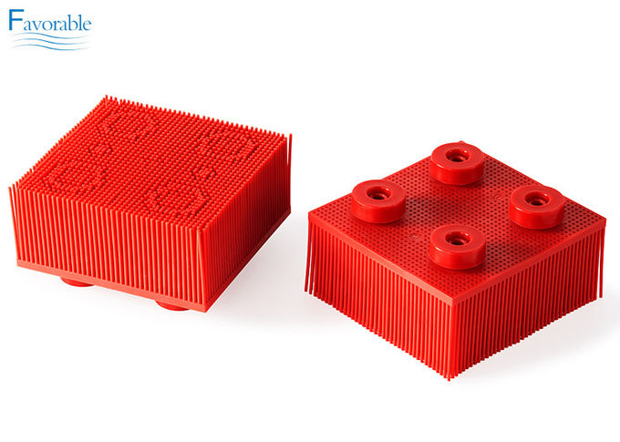 130297 Propack Thin Nylon Bristle Vector 5000 Red Round Foot Block